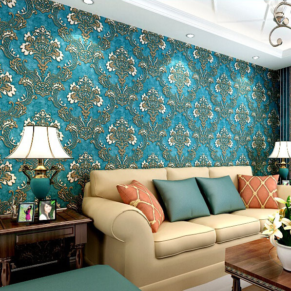 #6246-Luxury High Quality Damask Wallpaper Non Woven wall paper for living room bedroom,3D wallpaper