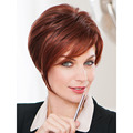 Medusa hair products: Asymmetrical pixie cut styles Synthetic pastel wigs for women Short Mix color mono wig with bangs SW0312B