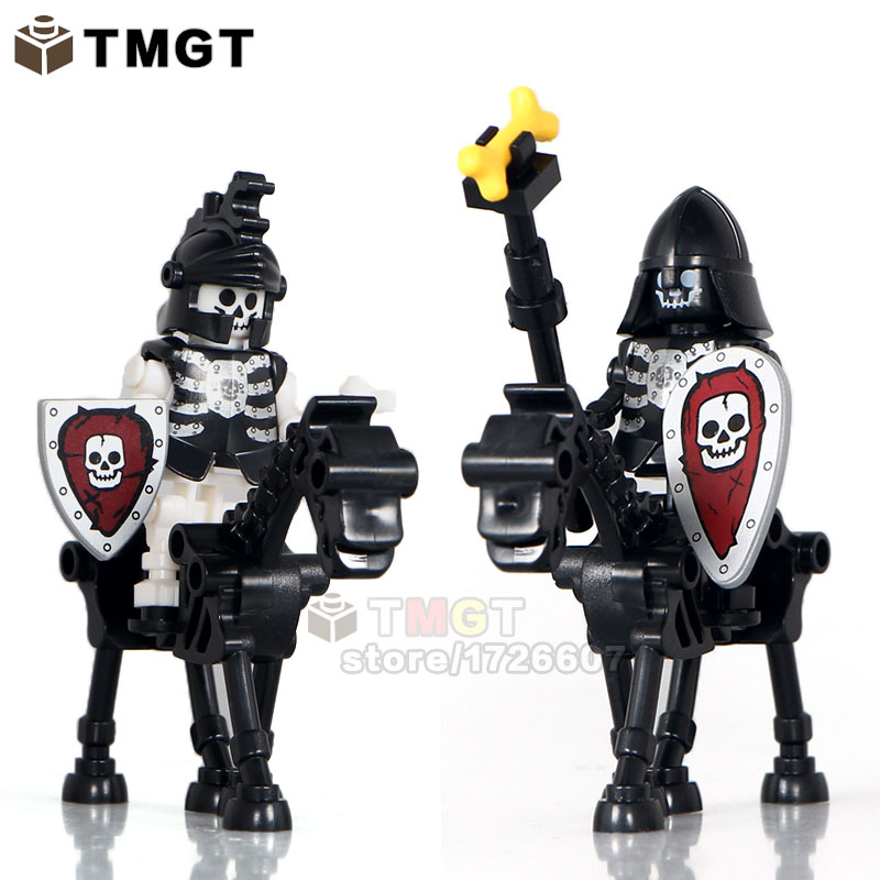 Blocks Tmgt 20pcs/lot Skeleton Knights Medieval Castle Knights Skeleton Horses The Lord Of The Rings Building Bricks Blocks Toys Ture 100% Guarantee Model Building