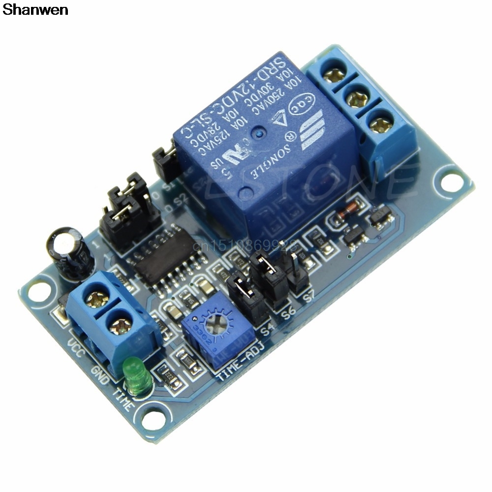 1PC Delay Relay Delay Turn on / Delay Turn off Switch Module with Timer DC 12V adjustable timer module time delay on off control switch board timer switch controller relay 10s to 24h 2 54mm