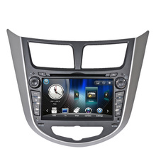 Car DVD Player for Hyundai Verna Accent I25 Solaris Grand Avega 2010 2011 with GPS Bluetooth free Russia Navitel gps map