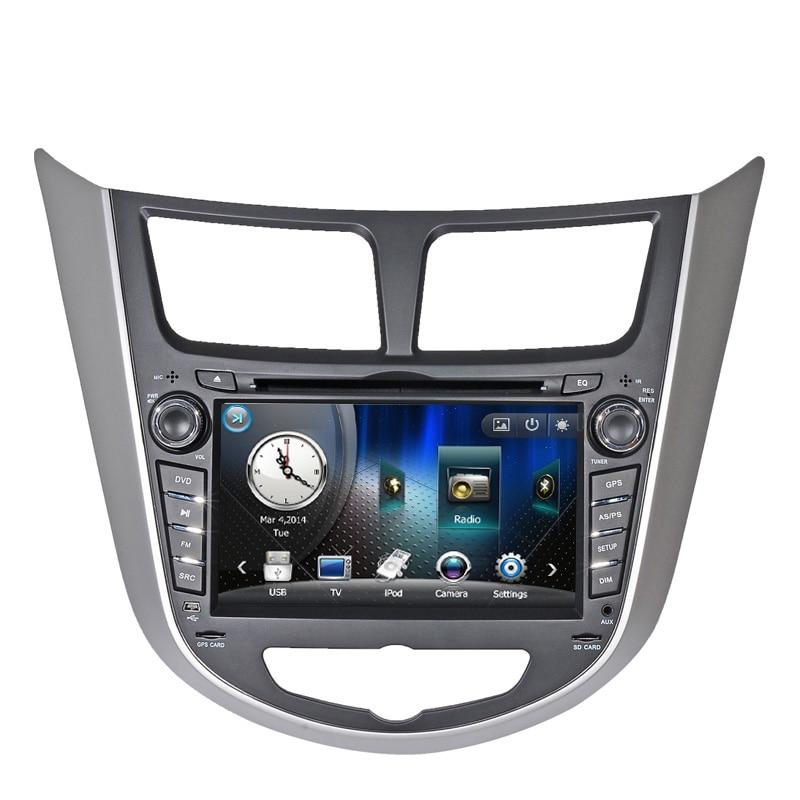 Car DVD Player for Hyundai Verna Accent I25 Solaris Grand Avega 2010 2011 with GPS Bluetooth