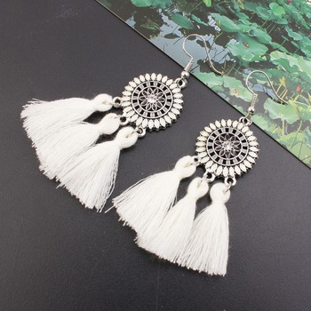 Promoção feminino brinco exagerar grande sol flor longo borla brincos para mulheres jóias feminino brinco pendientes brincos 1