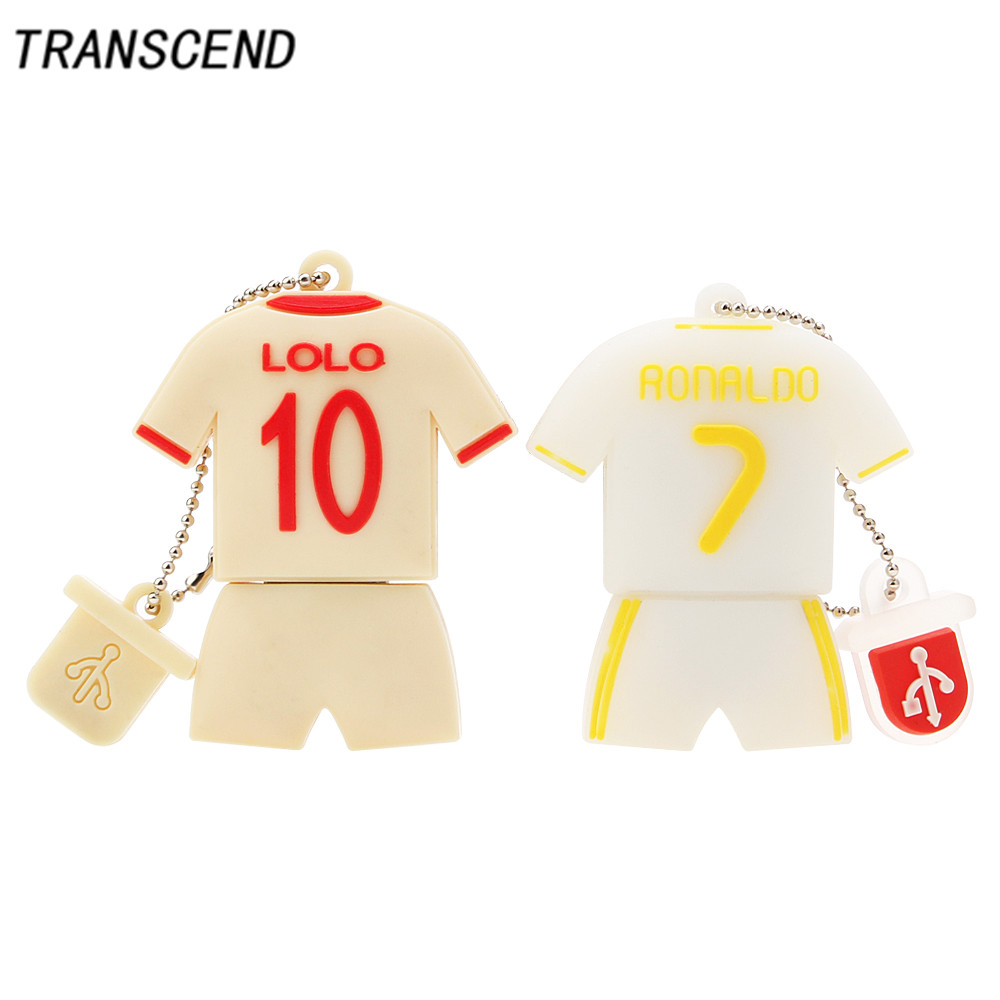 Transcend Plastic Cartoon Soccer Model usb2.0 Flash Drive 4GB 8GB 16GB 32GB 64GB Removable Pendrives Memory Card Free Shipping ...