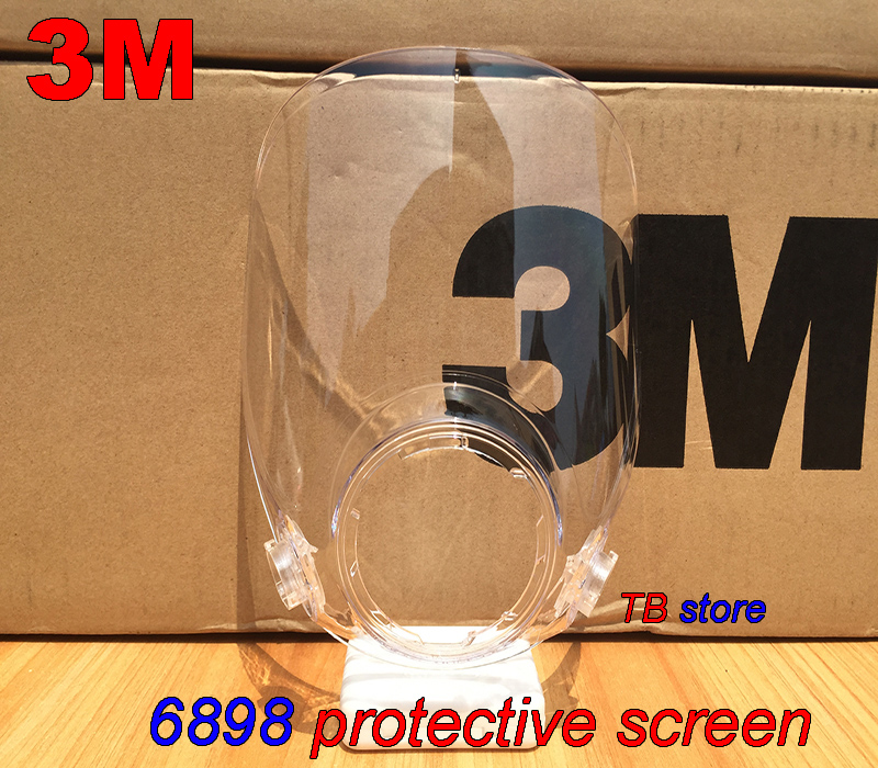 3M 6898 Protective Screen  6800 Gas Mask Dedicated Replace Face Screen High Definition Shockproof Scratch Resistance Mirror Mask