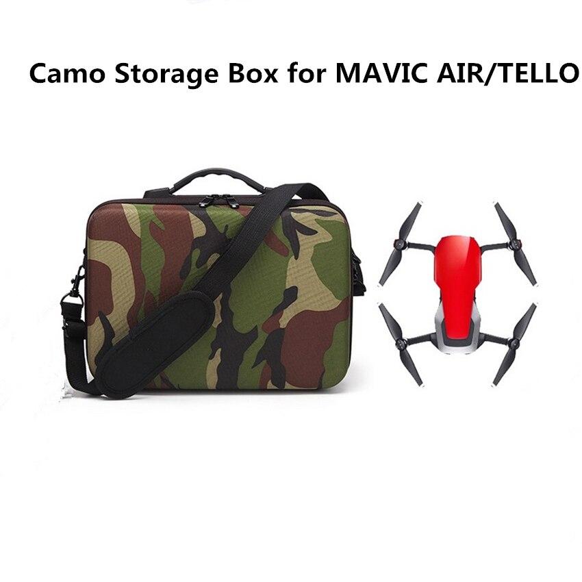 2018 Camo Storage Box for MAVIC AIR/Tello Drone EVA + Pearl Cotton Liner Security Suitcase Camo Portable Shoulder Bag
