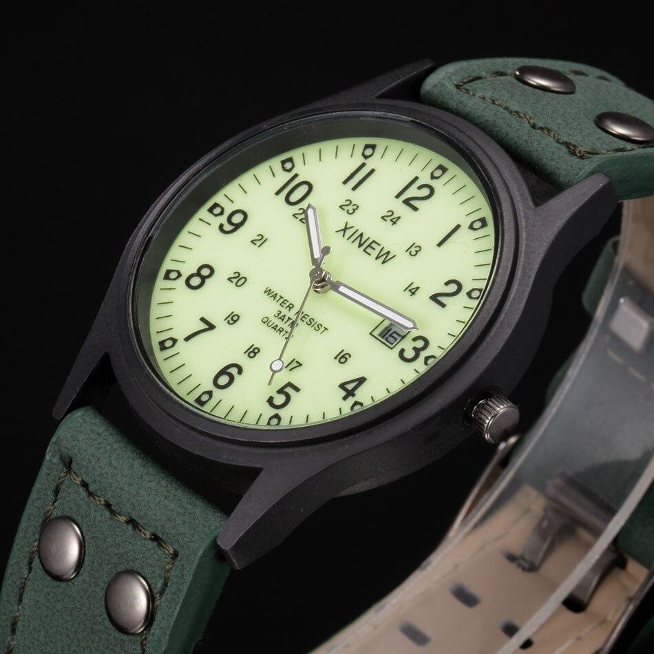 Designer de Marca XINEW Moda Relógios Luminosos Homens Esfriar Grande Dial Casual Relógio de Quartzo com calendário Relogio masculino Marca 2018