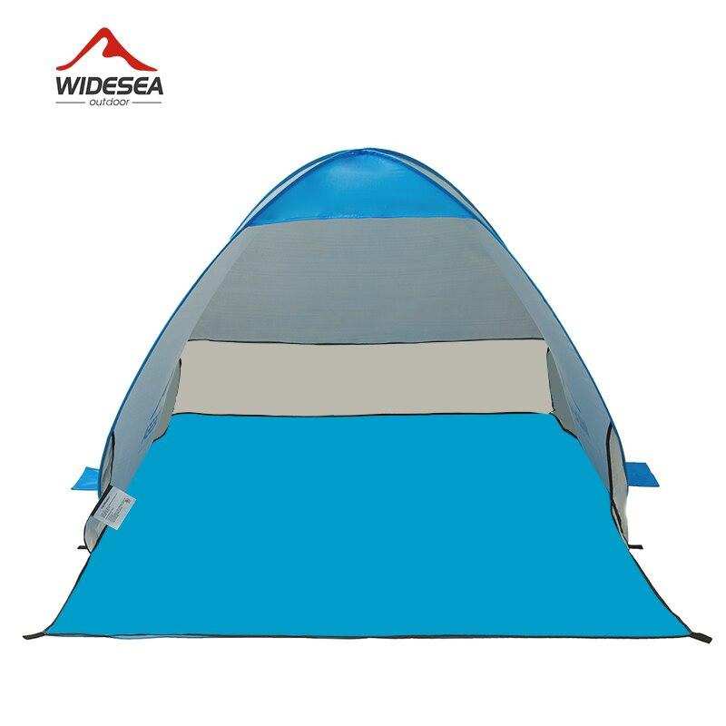 WIDESEA tente de plage pop up ouvert 1-2person sunshelter rapide automatique 90% UV-de protection auvent tente de camping de pêche parasol - 2