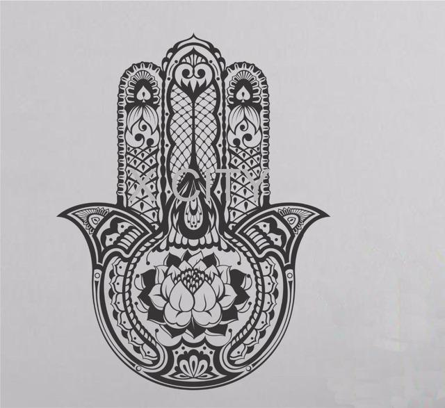 Vinyl Sticker Art Decor Hamsa Hand Fatima Wall Decal