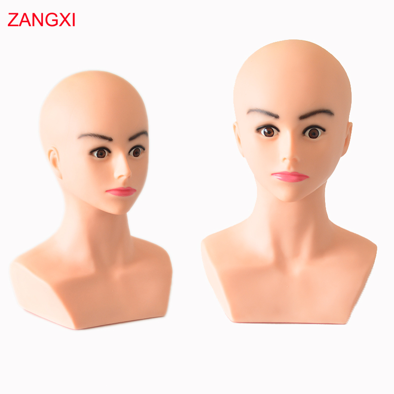 High Grade Soft Dolls Head Bald Manikin Head For Wig Making Hat Display Maniquin Head Wig Holder Mannequin Head With Shoulder