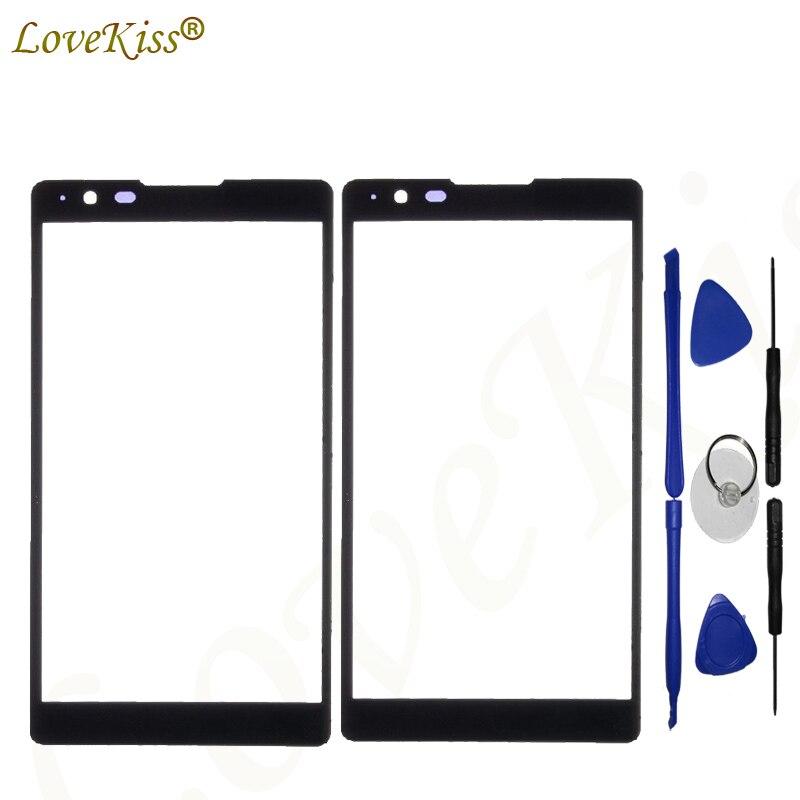 Lente de Panel frontal Lovekiss para LG X Power Xpower K220DS K220 LS755 K450 Sensor de pantalla táctil LCD Pantalla de Cristal TP reemplazo