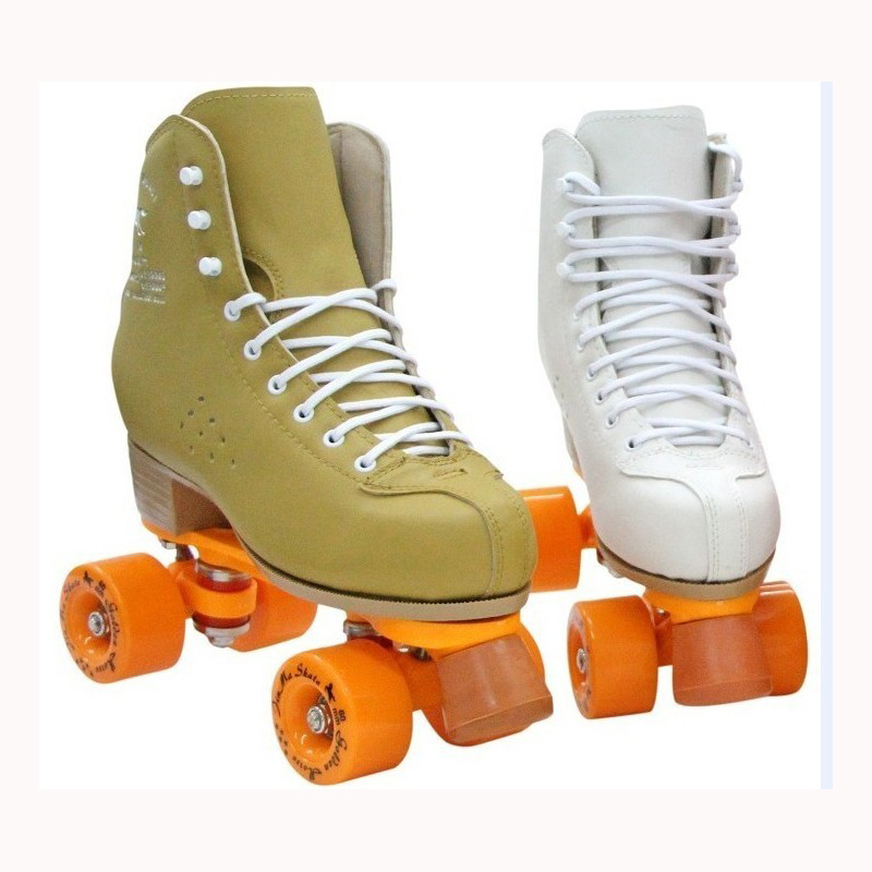 Image 3 - Professional Parenting Two Line Roller Skates Shoes Double Row Skating 4 PU Wheels High Grade PVC Leather Children Adult IB49Skate Shoes   -
