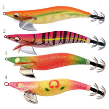 High-grade products Luminous eyes 3.5# Fishing lures Exported to Japan New design Squid Jigs Squid Hook Free shipping