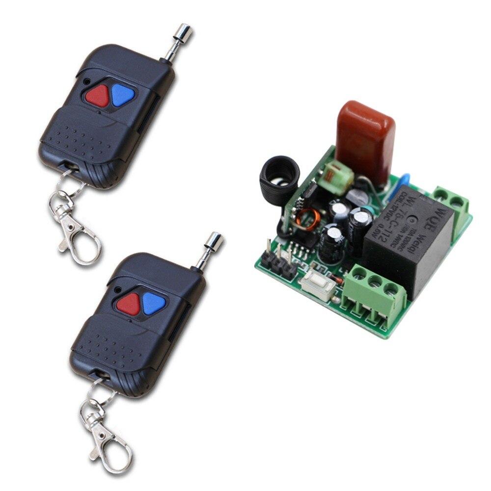 De alta Calidad Mini Tamaños AC220V RF Control Remoto Inalámbrico Interruptor de
