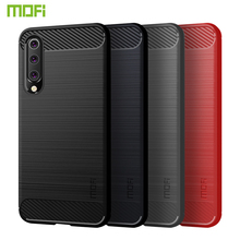 MOFi For Xiaomi Mi 9 SE 5.97 Cover Silicone Soft TPU Carbon Fiber Brushed Protective Back Cover For Xiaomi Mi9 SE Phone Cases brushed texture carbon fiber shockproof tpu case for xiaomi mi 8 se black
