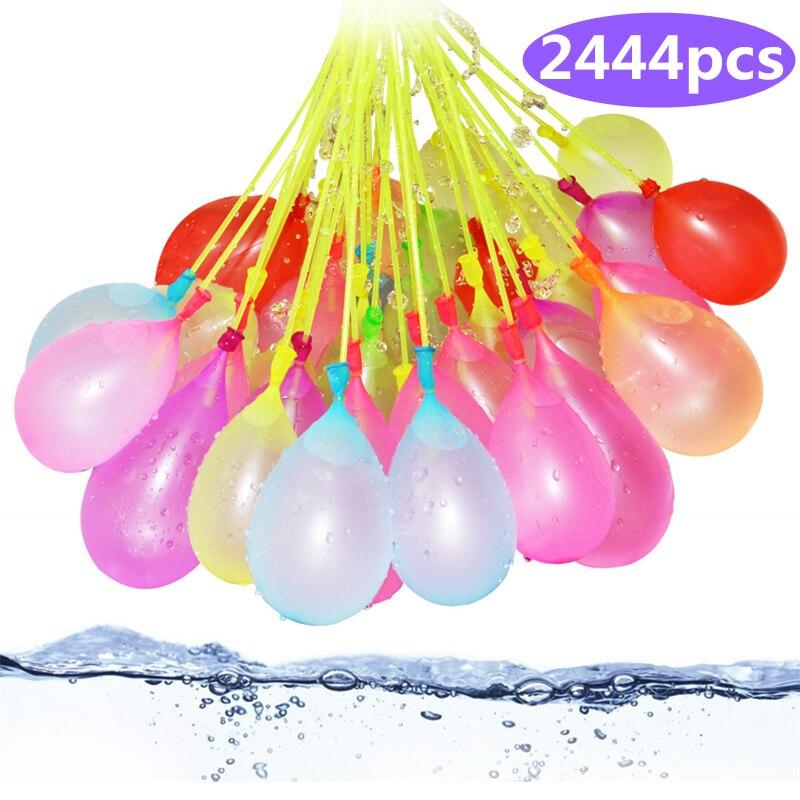2444 pcs Recharge Paquet Ballons D'eau Drôle D'été En Plein Air Jouet Ballon Ballons D'eau Bombes Nouveauté Gag Jouets Pour Enfants