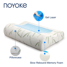 NOYOKE Обновление версии Летние охлаждающие гелевые подушки пены памяти комфорт ортопедические подушки шеи с моющаяся наволочка