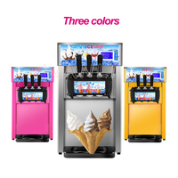 Free shipping 3 flavors Ice cream maker Commercial automatic ice cream machine Small soft ice cream machine 220V/110V