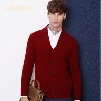 2017 Men's Sweater Mens Winter Wool Sweater Cardigan Men's Casual Plus Velvet Thick Cashmere Outwear Coat Masculino