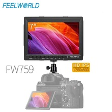 цена на Feelworld FW759 7 IPS Ultra-thin 1280x800 HDMI HD On-Camera Field Monitor with Peaking Focus LCD Monitor for BMPCC Canon Sony