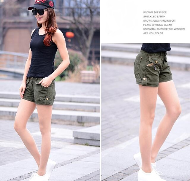 Aliexpress.com : Buy Women Cargo Shorts Army Green Short Shorts ...