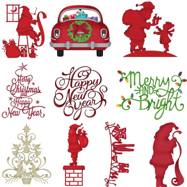 Estel סנטה קלאוס עץ חג המולד מתכת חיתוך מת שבלונות עבור DIY רעיונות הבלטות אלבום דקור יד-על נייר כרטיסים