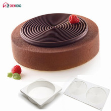 SHENHONG 2PCS Tourbillon Cake Mould 3D Non-stick Silicone Mold Art Mousse Moule Silikonowe Baking Pastry Tool For Muffin Brownie