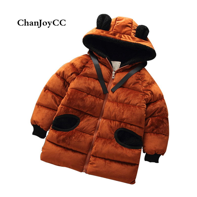 Winter Down Jacket Parka For Children Coats Girls And Boys Thickening Warm Hooded Clothing Snow Wear Kids Outerwear new 2017 winter baby thickening collar warm jacket children s down jacket boys and girls short thick jacket for cold 30 degree