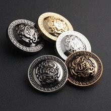 5 colors Retro Metal Button Antique Brass Copper Jeans Coat Jacket Clothes Decorative Buckle  Sewing 50 pcs/lot