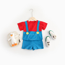 Twin Baby Boy and Girl Matching Cartoon Outfits