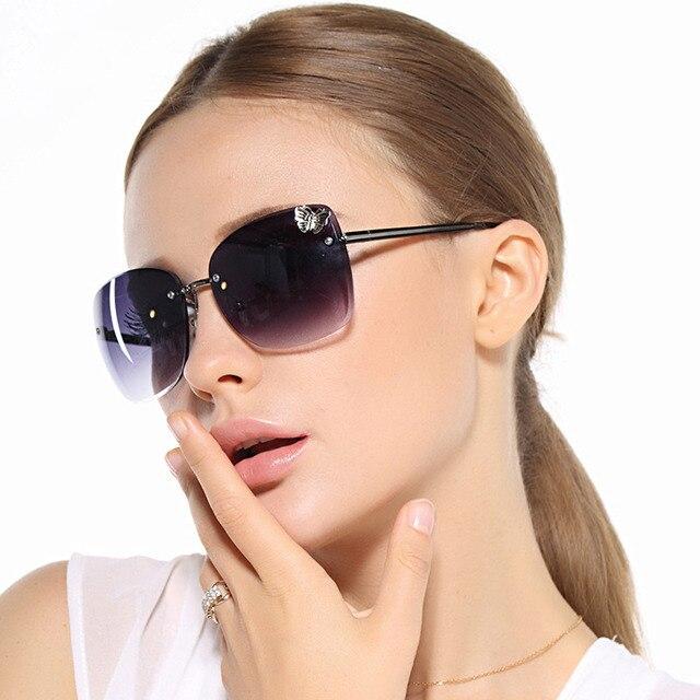 Woman Sunglasses  aliexpress com retro fashionable polarized rimless