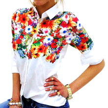 Autumn Women Top Blusas Femininas Print Floral Womens Blouse Shirt Turn Down Collar Long Sleeve Camisa Feminina LJ3981T