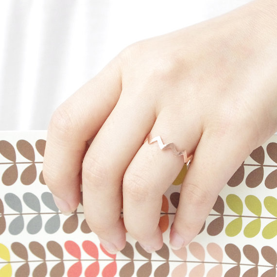 Fashion Gold Rings filled zig zag band thumb ring wholesale 30pcs