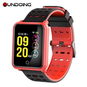 Rundoing N88 Smart Watch Bluetooth Fitness tracker 1.3 inch Color Screen Heart Rate IP68 Waterproof swimming Sport smartwatch new garmin watch 2019