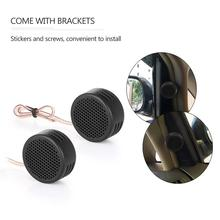 2pcs Hot Sale Mini Speaker Universal High Frequency Car Tweeter Loud Speaker Super Power Audio Auto Sound Loudspeaker Black