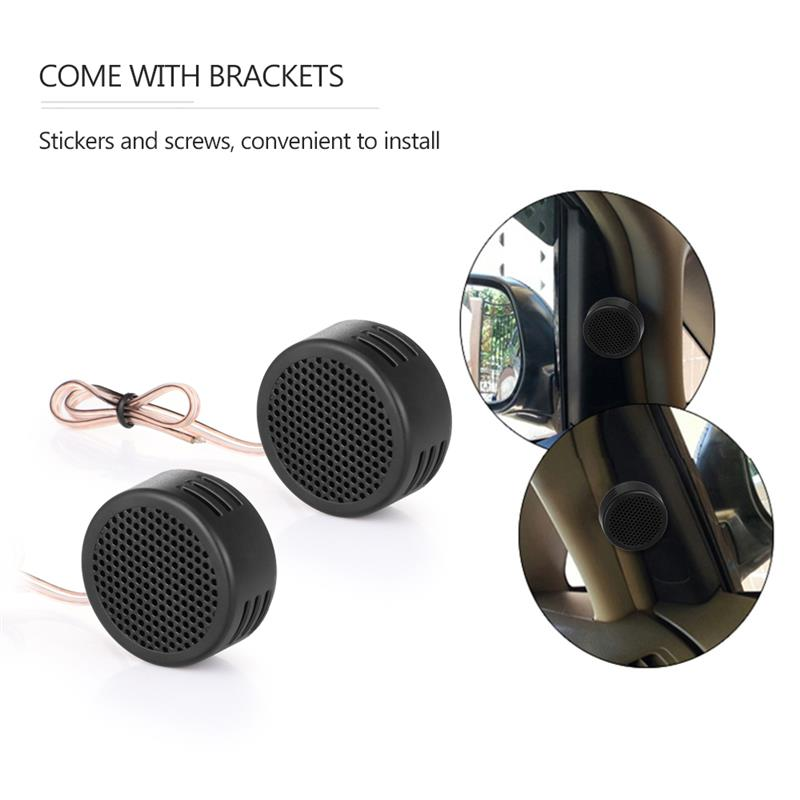 2pcs Hot Sale Mini Speaker Universal High Frequency Car Tweeter Loud Speaker Super Power Audio Auto Sound Loudspeaker Black