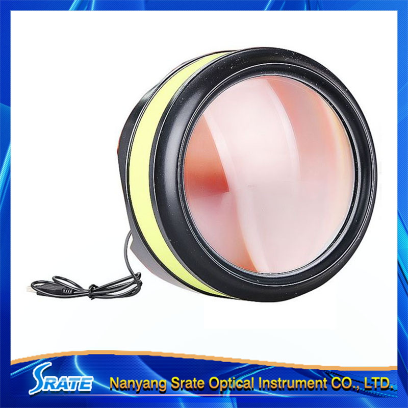 3.5X Cylinder USB Rechargeable Magnifier 90mm Lens LED Lights Illuminant Magnifying Glass Loupe with Stand for Reading  цены