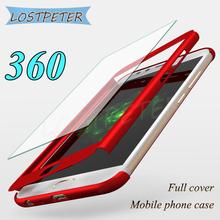 Luxury Full Cover For Huawei P8 lite Hard PC case 360 degree protector matte cases For huawei P8 lite 2017 case With Glass Film