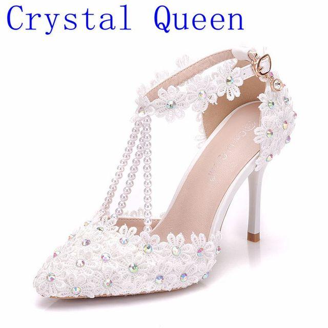 3d2f00060 Reina de cristal blanco de diamantes de imitación encaje borlas de novia