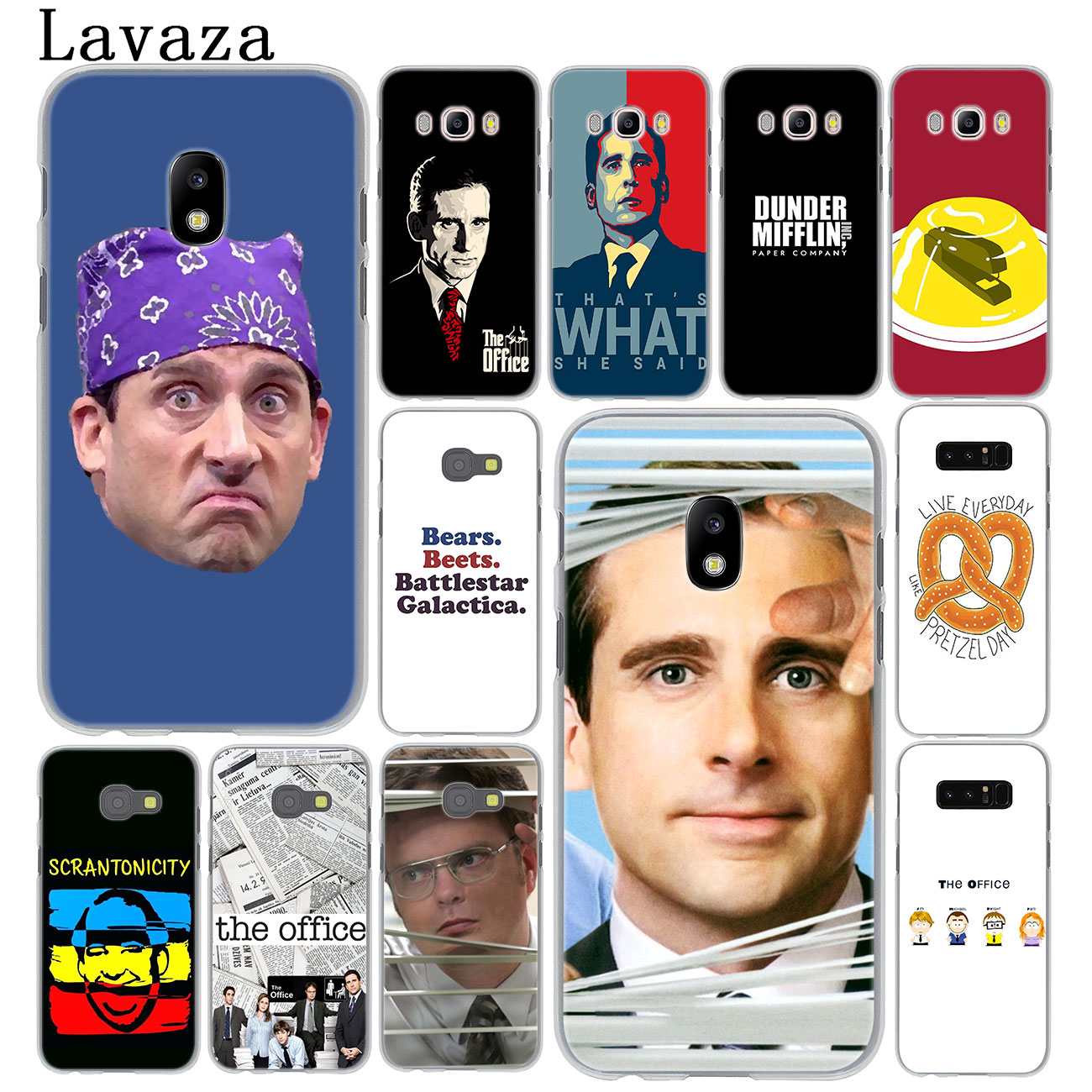 Lavaza TV the office cast meme Hard Phone Case for Samsung Galaxy J8 J7 Duo J6 J5 J4 Plus 2018 2017 2016 2015 J2 J3 Prime EU US image