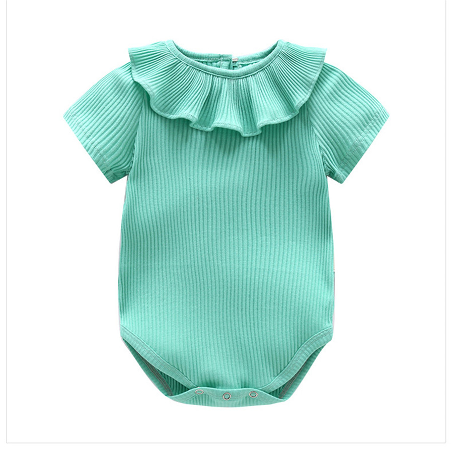 Joyo roy Nieuw artikel Kuil driehoek Rompertjes Baby meisjes Effen - Babykleding - Foto 3