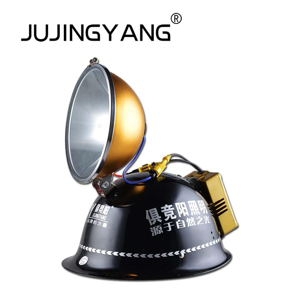 JUJINGYANG сильный свет 12 В фар 150 Вт рыбалка прожектор лампа ксенона шлем