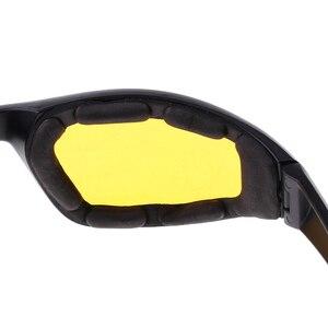 Image 5 - 3 Pair PVC Retro Motorcycle Windproof Padded Foam Riding Glasses UV400 lenses Motobike Men Eyewear Yellow Clear Smoke