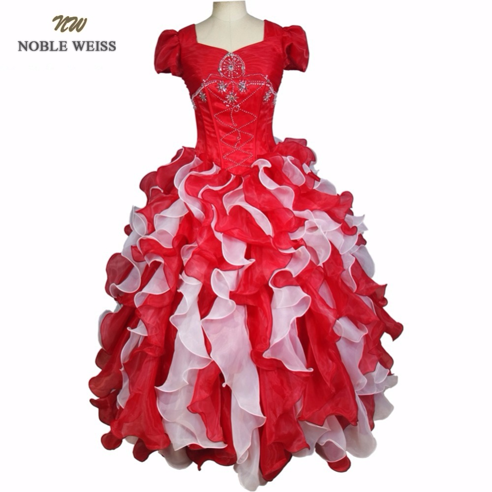 Beautiful Noble Weiss 2019 Ball Gown Quinceanera Dresses For 15 Years With Beaded Pleat Sweetheart Organza Custom Made Formal Dress Weddings & Events