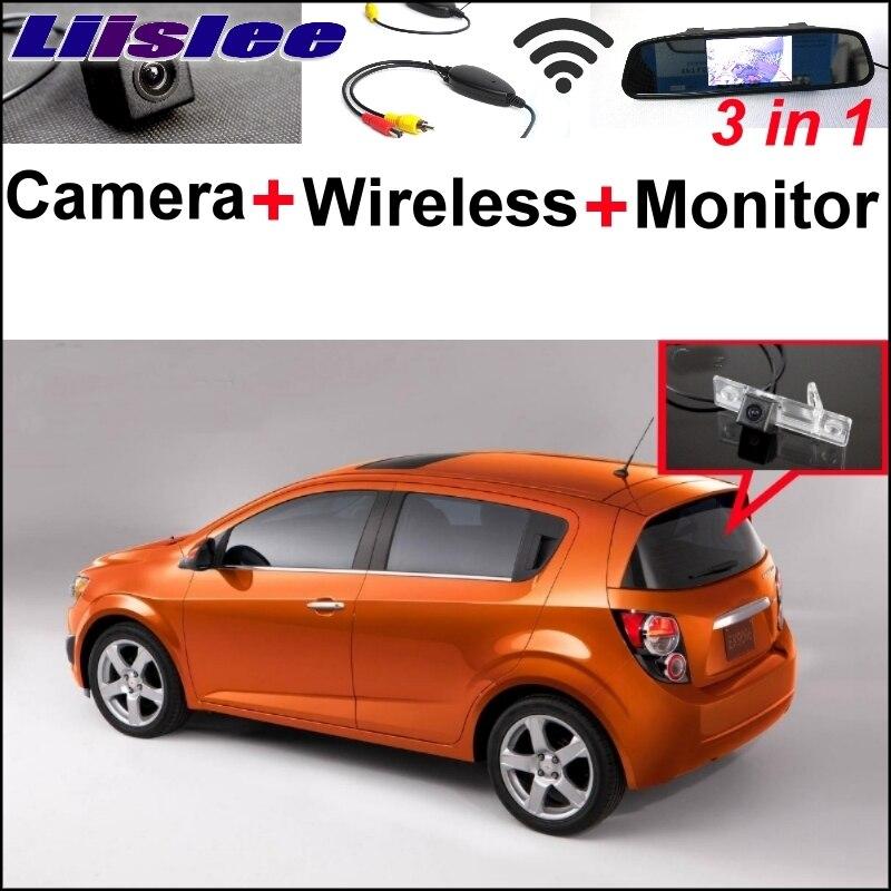 Liislee специальный WiFi камера + беспроводной приемник + монитор зеркала парковочная система поделки для Шевроле optra Шевроле Спарк Соник тоска