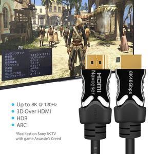Image 5 - 2020 beste 8K 48Gbps 2,1 HDMI Kabel 4K HDMI 2,1 Kabel eARC Cabo HDMI 2,1 UHD Dynamische HDR HDMI 2,1 Kabel für 8K Samsung QLED TV