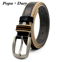 Popu Dury 2017 Cool Design Fashion Belt Woman Casual Cowskin Leather Belts Women Female High Quality