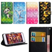 Luxury Flip Leather Case For Alcatel U5 3G 4047D 4047 Cover 3D Painted Wallet Card Slot U 5
