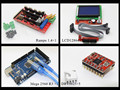 Мега 2560 R3 Микроконтроллер + платформы 1.4 контроллер + 12864 ЖК-панель + A4988 шагового драйвера Для arduino 3d-принтер Diy kit