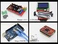 Mega 2560 R3 microcontrolador + rampas 1.4 + 12864 LCD painel + motorista A4988 stepper para arduino kit Diy de impressora 3d